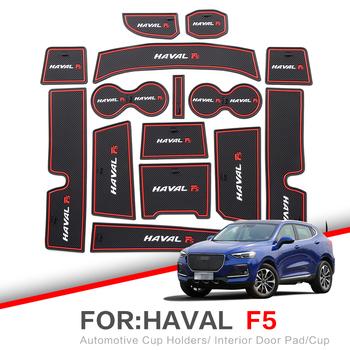 ZUNDUO nakładka na szczelinę w bramie do akcesoriów HAVAL F5 2018 gumowa mata samochodowa 3D czerwony biały podkładka wewnętrznego drzwiowego mata na kubki czerwony biały tanie i dobre opinie CN (pochodzenie)