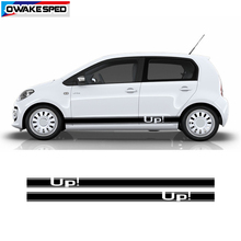 For Volkswagen UP E-up 4 Door Side Skirt Stripes Sticker Car