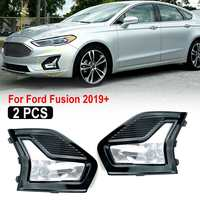 1 Pair Left Right Side Fog Lamp DRL Daytime Running Light Daylight Fog Lamp with Cover Frame For Ford For Fusion 2019