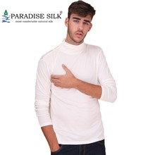Long-Sleeve T-Shirt Heavy-Weight Turtleneck Solid Silk Comfy-Top Knit XXL Men's Pure