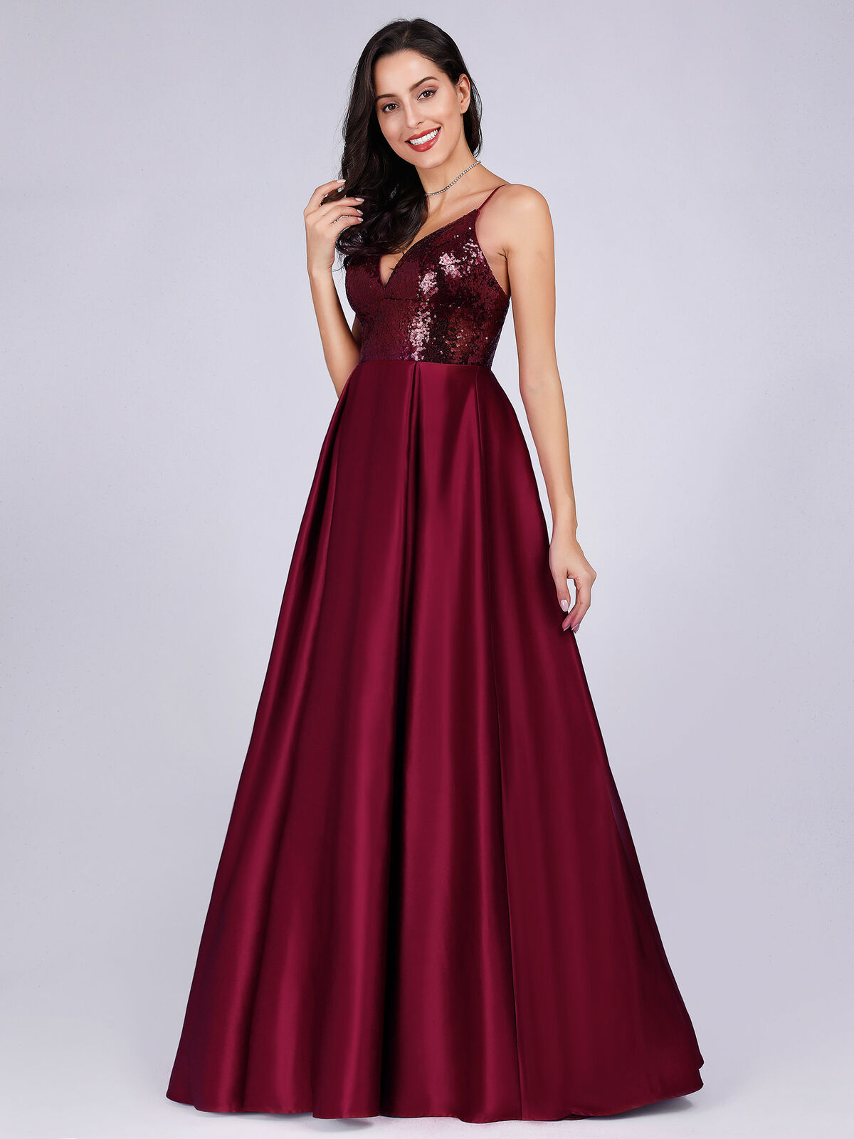 AliExpress 2019 New Style Hot Selling Banquet Wine Long Europe And America Sequin Backless Sexy Evening