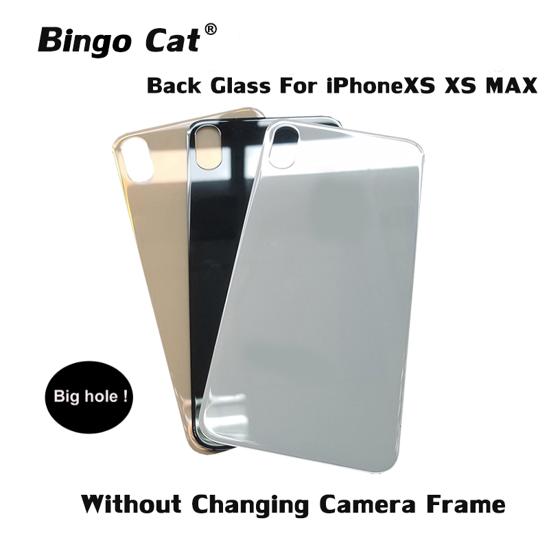Easy Change Back Cover Glass Rear Housing For IPhone X XR XS XSM Rear Door Body Assemble Housing Replacement With Big Hole