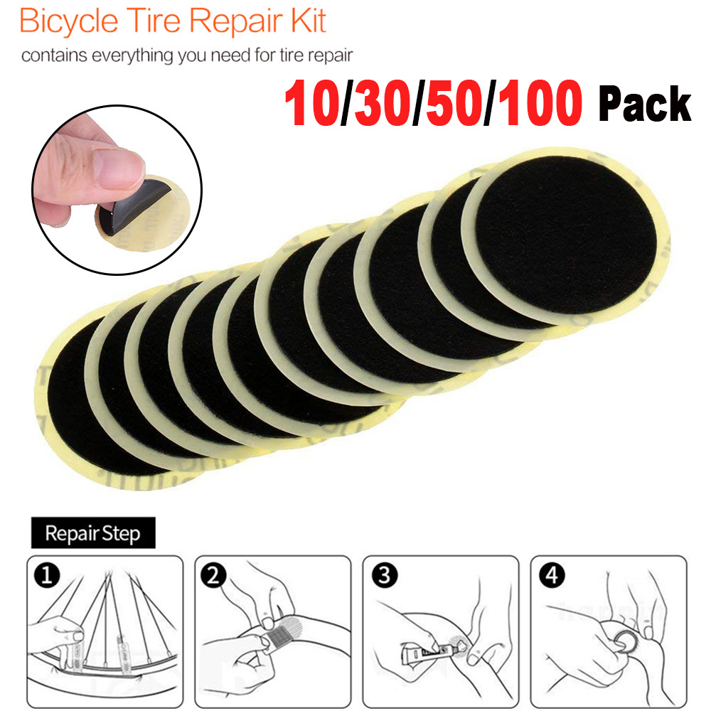 10/30 PC Quick Drying Without Glue Bicycle Inner Tire Patches Cycling Mountain Bike Tyre Puncture Repair Tools High Quality D40