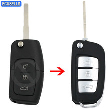 Modified 3 Button New Folding Flip Remote Key Shell Case Smart Car Key Housing Fob for Ford Focus Fiesta C Max Galaxy Kuga S Max