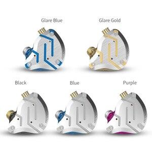 Image 2 - KZ ZS10 Pro mavi gürültü iptal kulaklık Metal kulaklık 4BA + 1DD hibrid 10 sürücüleri HIFI bas kulakiçi monitör kulaklık