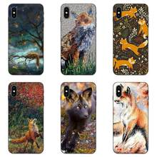 Leuke Fox In Herfst Bladeren Forest Soft Fashion Case Cover Voor Apple iPhone 4 4S 5 5S SE 6 6S 7 8 Plus X XS Max XR(China)