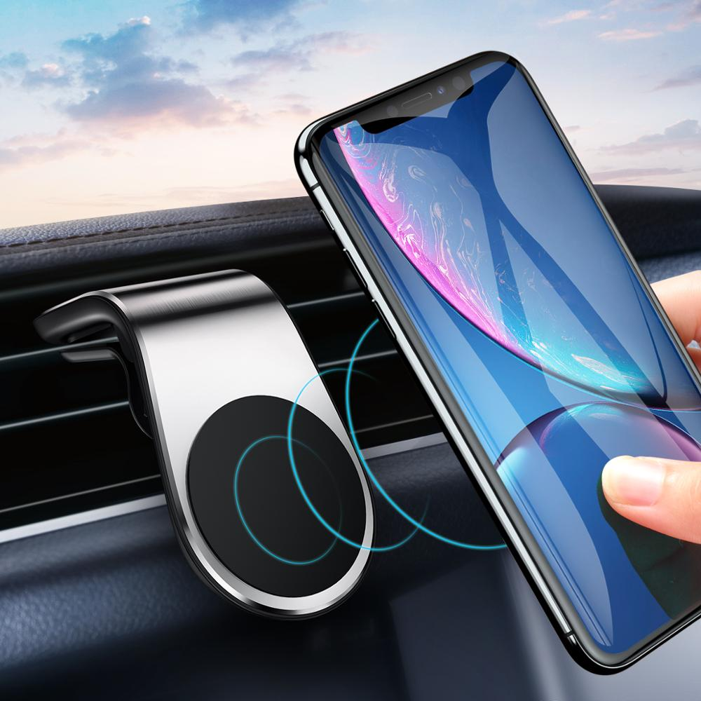 KSTUCNE Metal Magnetic Car Phone Holder Mini Air Vent Clip Mount Magnet Mobile Stand For IPhone XS Max Xiaomi Smartphones In Car