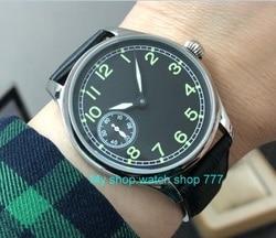44mm no logo Asian 6497 17 jewels Mechanical Hand Wind movement men's watch luminous Mechanical watches Pilot's watch pa87-p8