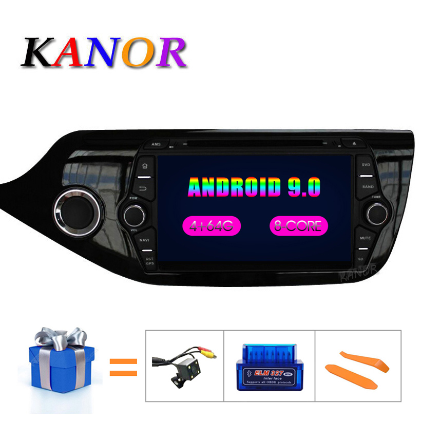 KANOR Android 9.0 IPS Octa core 4 + 32g Auto Multimedia-Player Für KIA Ceed 2013 <font><b>2014</b></font> 2015 Audio Radio steuergerät 2din Android Radio image