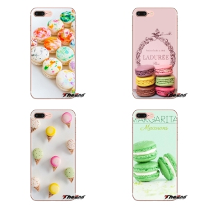 Silicone Covers dessert ice cream laduree Macarons For LG G3 G4 Mini G5 G6 G7 Q6 Q7 Q8 Q9 V10 V20 V30 X Power 2 3 K10 K4 K8 2017