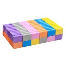 20 pçs/set Buffers Unhas Arquivo Lixa de Unha Mini Blocos Multi-cores Esponja Para UV Gel Unha Polonês Lixar Buffer tira Manicure TF28