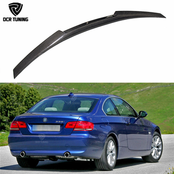 New M4 Style For BMW E92 Spoiler 3 Series 2 Door E92 M3 & E92 Coupe Carbon Rear Trunk Spoiler 320i 330i 335i Coupe 2005 - 2012 image