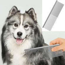 Stainless Steel Dog Dematting Comb Pet Grooming Combs for Shaggy Dogs and Cats Gently Removes Loose Undercoat Mats Tangles Knots