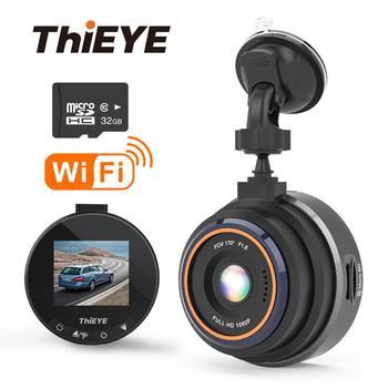 ThiEYE Dash Cam Safeel Zero+ Car DVR dash camera Real HD 1080P 170 Wide Angle dashcam With WiFi G-Sensor Parking Mode car camera phisung f900 10in 1080p hd car rearview mirror dvr camera g sensor dash cam