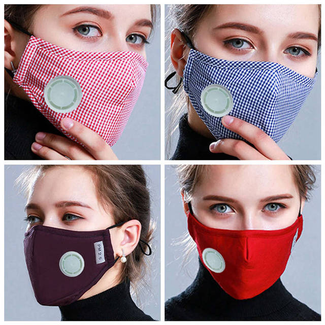 Anti Pollution Mask Dust Respirator Washable Reusable Masks Cotton Unisex Mouth Muffle For Allergy/Travel/ Cycling Flu Face Care 3