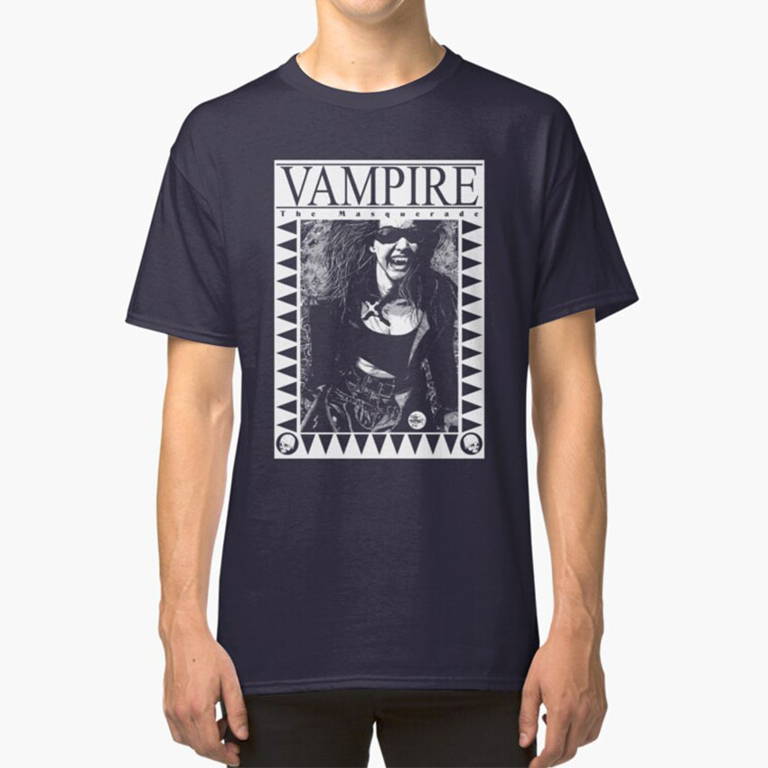 Retro Vampire : The Masquerade T - Shirt Classic World Of Darkness Tim Bradstreet