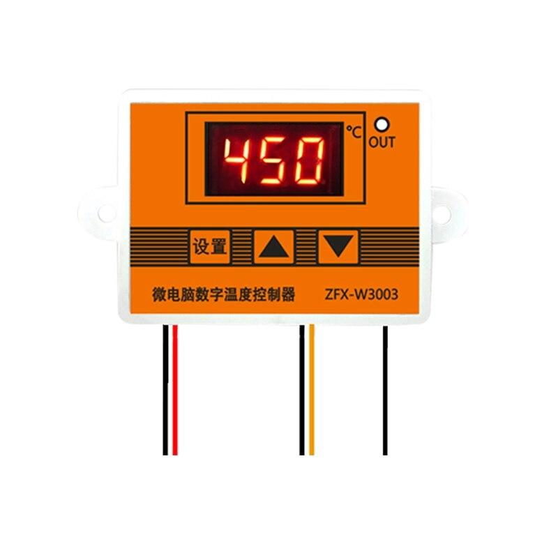 3003 12V 24V 220V LED Microcomputer Digital Display Temperature Controller Thermostat Intelligent Time Controller Adjustable Ele