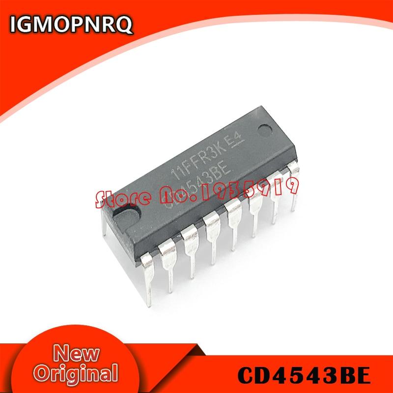 10PCS CD4543BE DIP16 CD4543 DIP 4543BE DIP-16 New And Original IC