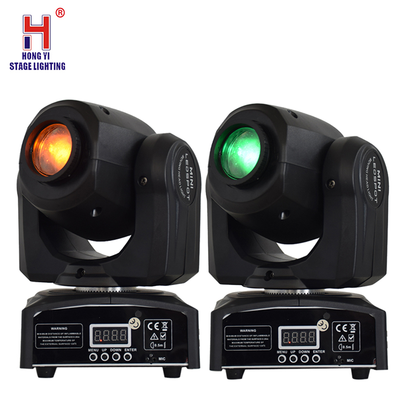 LED Inno Pocket Spot Mini Moving Head Light 10W DMX 8 Gobos Effect Stage Lighting Equipment(2 Pieces/lot)