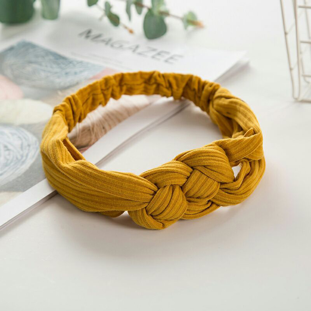 Women Headband Wire Hair Ties Wide Knot Headbands Female Hair Bands Elastic For Hair Women Headwrap Turban Hair Accessories