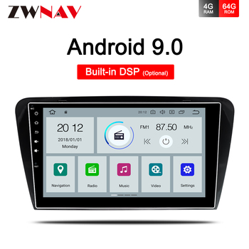 4+64 DSP Car Multimedia Player 1 Din DVD Automotivo Android 9.0 For Skoda/Octavia 2014-2019 GPS Navi Video Audio Radio head unit