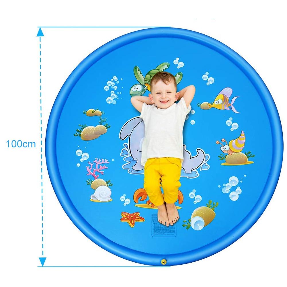Купить с кэшбэком 150cm Inflatable Spray Water Cushion Summer Kids Play Water Mat Lawn Games Pad Sprinkler Play Toys Outdoor Tub Swiming Pool