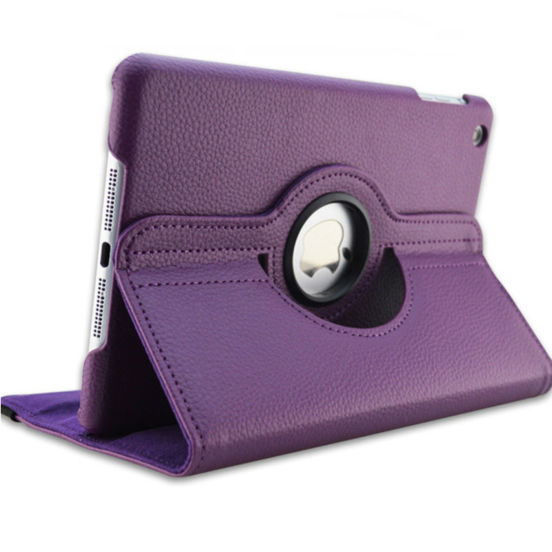 Purple Purple Case for Apple iPad pro 11 Case 2020 A2228 A2068 A2230 2nd 360 Degree Rotating Leather