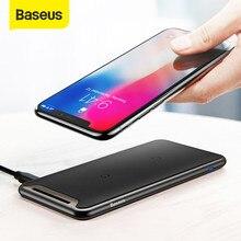 Baseus-cargador inalámbrico Qi para iPhone, Xs Max, XR, Samsung S9 Note 10, Xiaomi, estación de carga inalámbrica de escritorio