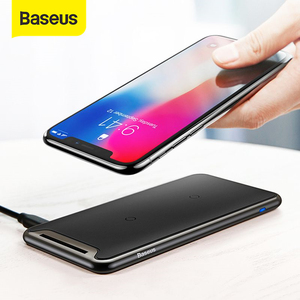 Image 1 - Baseus Qi Wireless Charger For iPhone Xs Max XR Samsung S9 Note 10 Xiaomi Desktop Wireless Charger Wireless Charging Pad Station