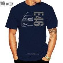 Camiseta e46 e 46 clássico deriva série 3 carro 2019 estilo verão marca casual o-pescoço masculino topos & t impressão em camisetas