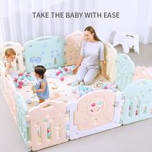 Kojec dla niemowląt mata dla niemowlęcia maluch pasek ochronny ogrodzenie zabezpieczające dla dzieci zabawki dla dzieci kojec dla dzieci łóżeczko dziecięce ogrodzenie Play Yard tanie tanio 6 miesięcy Z tworzywa sztucznego GEOMETRIC