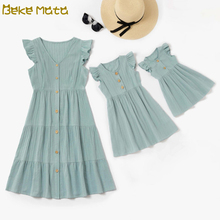 Mommy And Me Clothes Ruffle Mom And Daughter Baby Girl Dress Family Look Mother Daughter Dresses Short Family Matching Outfits family matching dress mom and daughter dress sleeveless family look mother daughter dresses mommy and me clothes baby romper set