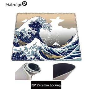 Image 4 - Mairuige Great Wave Off Art  Large Size Mouse Pad Natural Rubber PC Computer Gaming Mousepad Desk Mat Locking Edge for CS GO LOL
