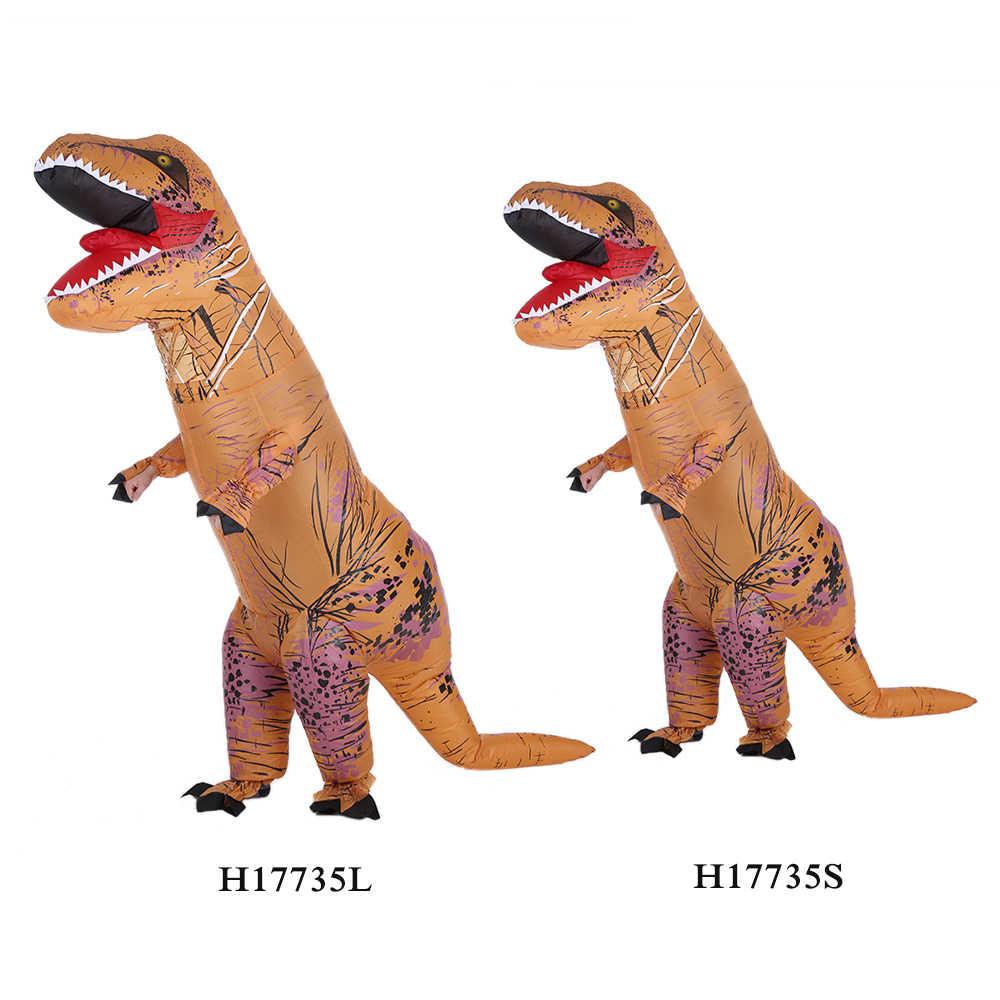 Zabawny nadmuchiwany dinozaur Trex kostium Air Fan obsługiwany wysadzić Halloween Cosplay przebranie kostium zwierzęcy kombinezon
