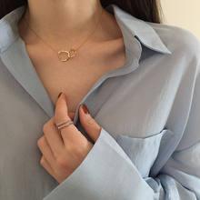 Лидер продаж, модное ювелирное изделие для девочек, простое Универсальное кольцо-цепочка, популярная цепочка на шею, кольцо на шею, женские ...
