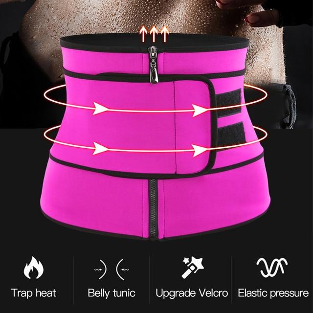 Waist Trainer Thermo Sweat Belt Waist Trainer Girdle Corset Women Tummy Body Shaper Shapewear Fat Burning Fitness Modeling Strap 2