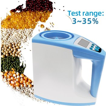25 kinds grains barley corn hay oats rapeseed rough rice sorghum soybeans and wheat grain moisture meter tester High Precision Automatic Digital Grain Moisture Meter Analyzer Humidity Gauge Rice Corn Wheat Moisture Tester Detector LDS-1G