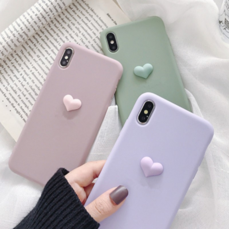 3D Sweet Heart Silicone Soft Phone Case For Samsung Galaxy M10 A10 A20 E RE M20 M30 A40 S A30 A60 A70 A90 A908 Cover