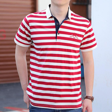 Brand Men Polo-Shirt Ralp Casual Cotton High-Quality Summer New Camisa Solid Striped