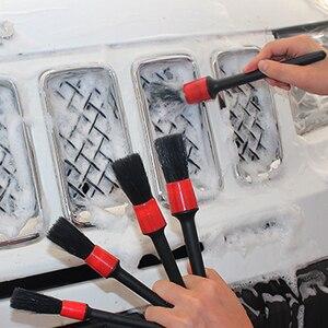 Image 2 - 5 قطعة/المجموعة سيارة تنظيف فرشاة العملي البلاستيك تفصيل فراشي شعر أدوات سيارة عجلات اندفاعة اكسسوارات التصميم