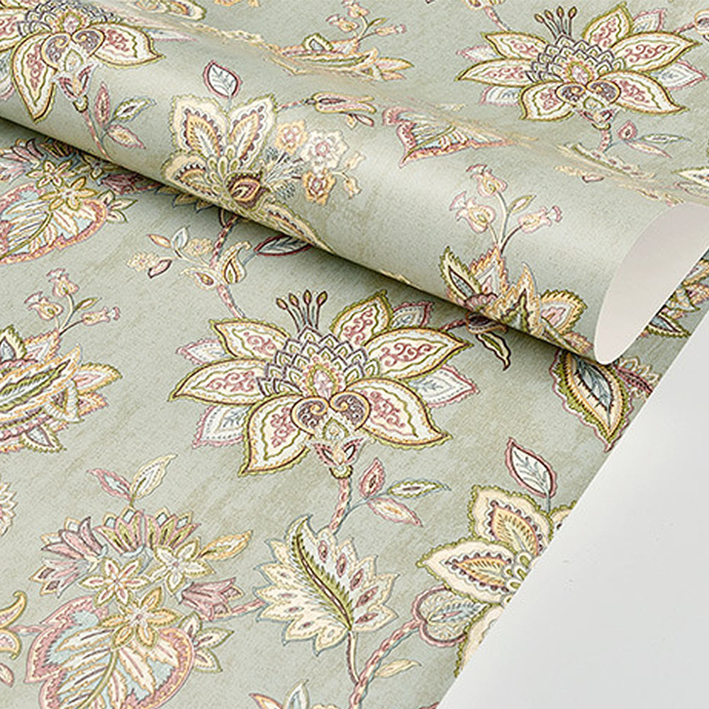 Chinese Style Classical Flower Bird Pattern Wallpaper Wedding Room Living Bedroom Coffee Shop Decorative