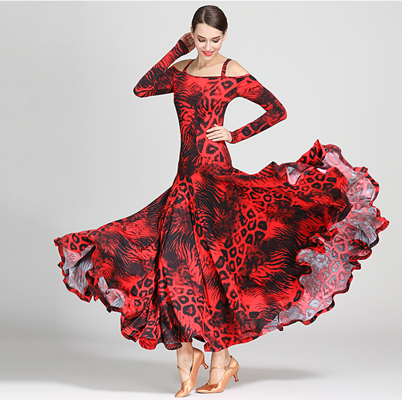 Image 4 - NEW Ballroom Competition Dance Dress Women Modern Tango Waltz 