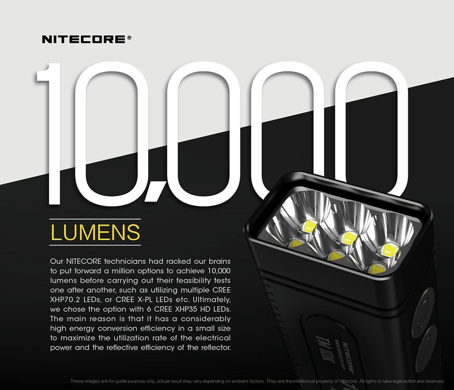 10000 lúmens para operações, pequeno, carregador com tela oled ultraleve