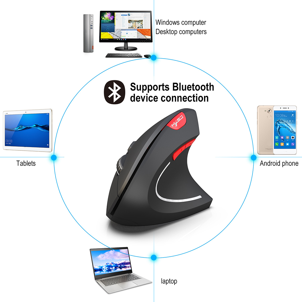 Creative New Comfortable Vertical Wireless Bluetooth Mouse Practical Computer Gaming Mouse Cool Shark Fin Ergonomic For Fortnit