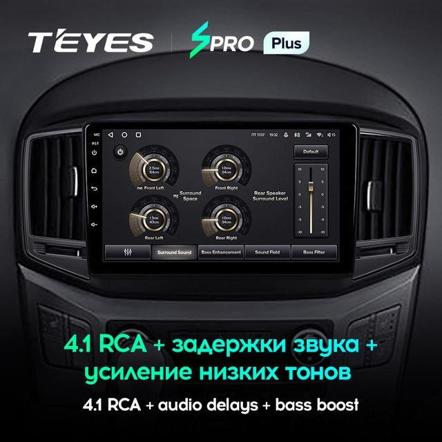 TEYES SPRO Plus Штатная магнитола For Хендай H1 2 For Hyundai H1 2 2017 - 2018 Android 10, до 8-ЯДЕР, до 4 + 64ГБ 32EQ + DSP 2DIN автомагнитола 2 DIN DVD GPS мультимедиа автомобиля головное устройство 4