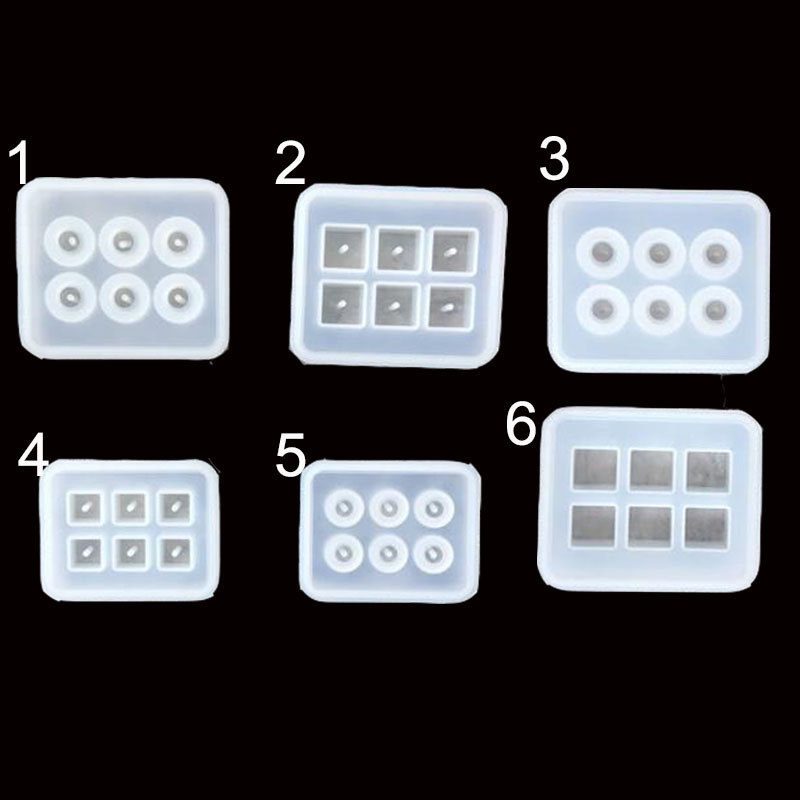 Popular6 Styles Beads Square Ball 6 Hanging Holes DIY Epoxy Jewelry Mold Resin Molds For Jewelry
