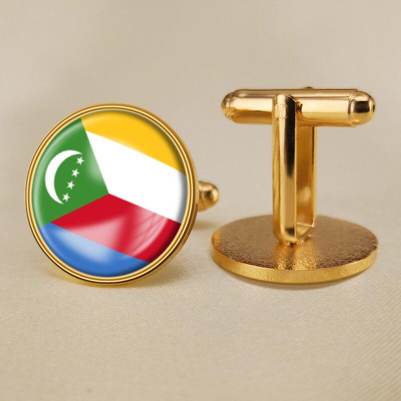Comoros Flag Cufflinks