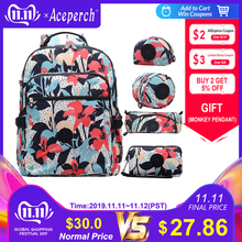ACEPERCH Waterproof Backpacks Mochila Nylon Female Multifunction Women Original School-Girl