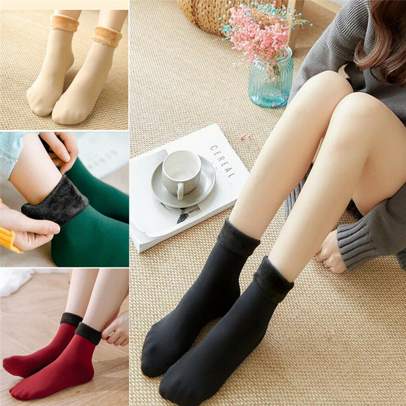 New Women Lady Winter Snow Boot Socks Warm Plush Thermal Socks Thick Fleece Thicken Thermal High Elastic Floor Snow Boot