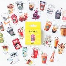 цена на 46pcs/box Kawaii Coffee Drink Paper Decoration Stationery Sticker DIY Diary Planner Label Journal Stickers Student Supply